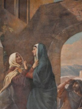 «La Visitation» de Jean–Louis Machard, détail