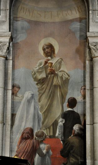 «Le Don de l'Eucharistie», détail